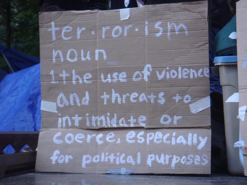 Image of terrorism definition