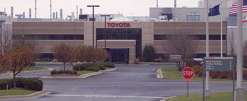 Image of Toyota Plant in Indiana. North Carolina was in the running to be the home of Toyota's North American Headquarters in 2014, but Plano, Texas won the bid.
