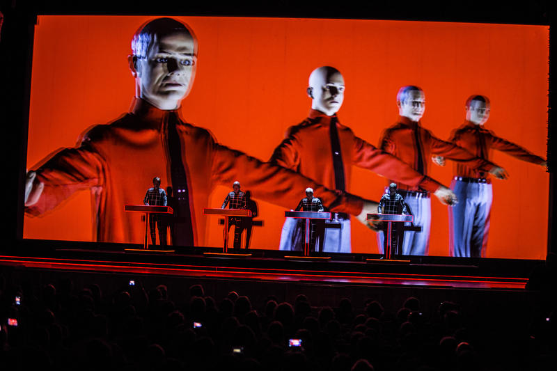 Kraftwerk performing at Moogfest in Asheville, 2014
