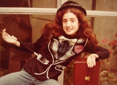 Author Lori Horvitz at age 14 as an amateur magician