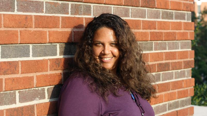 Image of Amber Flora Thomas, a poet and creative writing professor at East Carolina University.