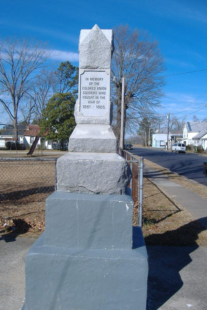 An image of a monument for black soldiers in the Civil War