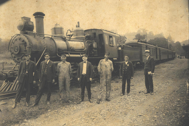 Image of a train in Boone, N.C. in 1923