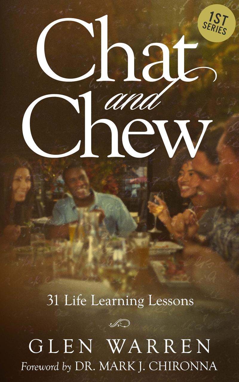 Image of the cover of Glen Warren's book, 'Chat and Chew.'