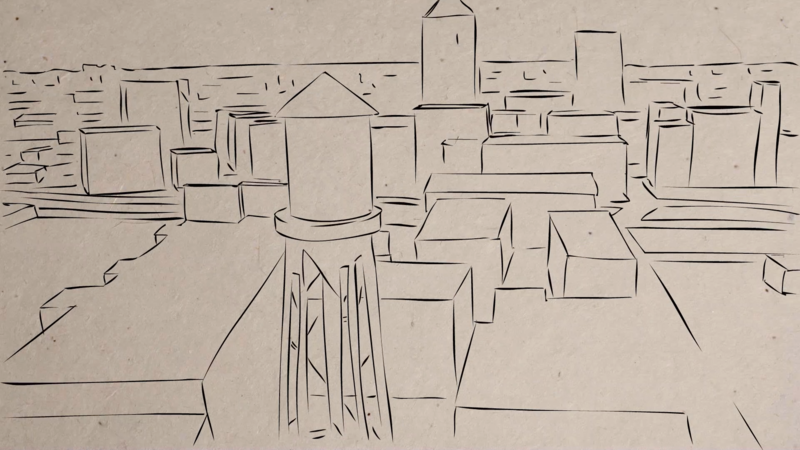 Image of Durham as an animated sketch in I, Destini.