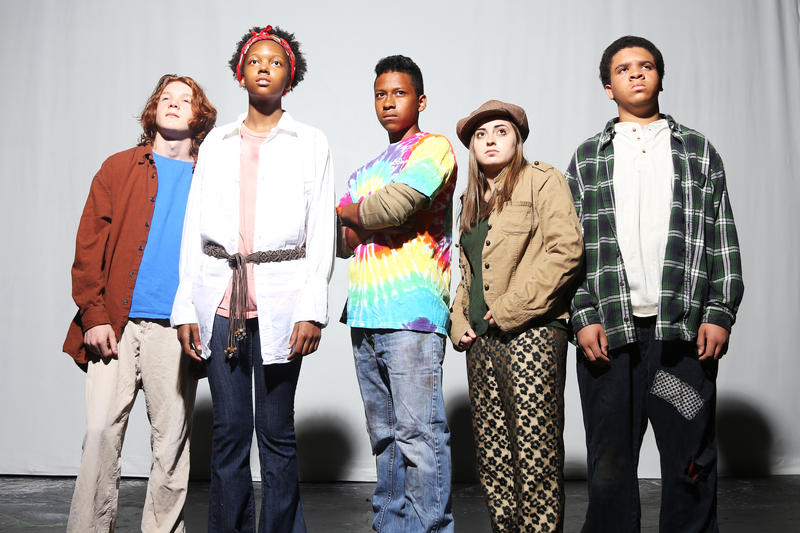 Image of several actors who will be in the play 'Runaways.' Raleigh Little Theatre is producing 'Runaways,' a former Broadway musical about teenagers who run away from home.