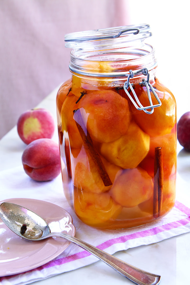 Image of picked peaches by Sheri Castle