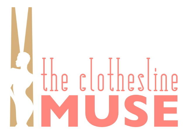 Logo for 'The Clothesline Muse,' a play that explores the history and culture of the clothesline.
