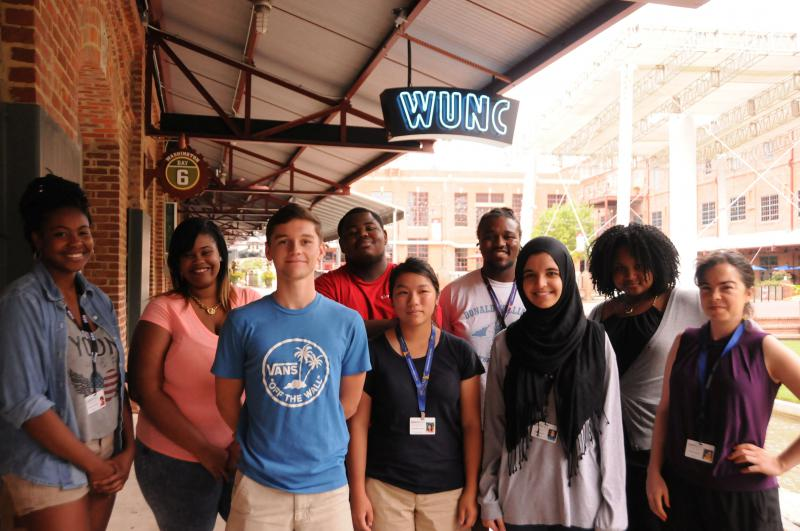 An image of the 2015 Youth Radio group