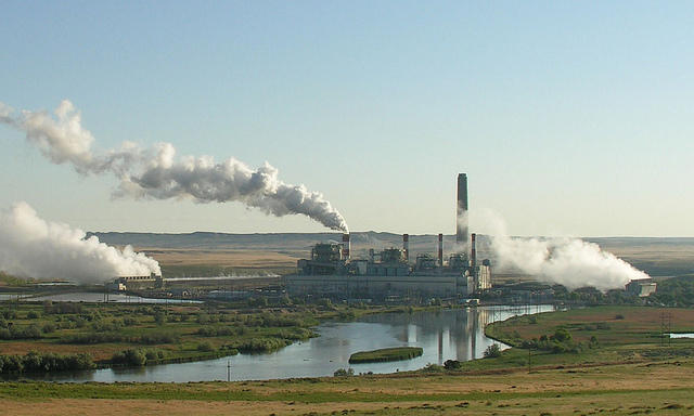 Coal fired power plant in Wyoming