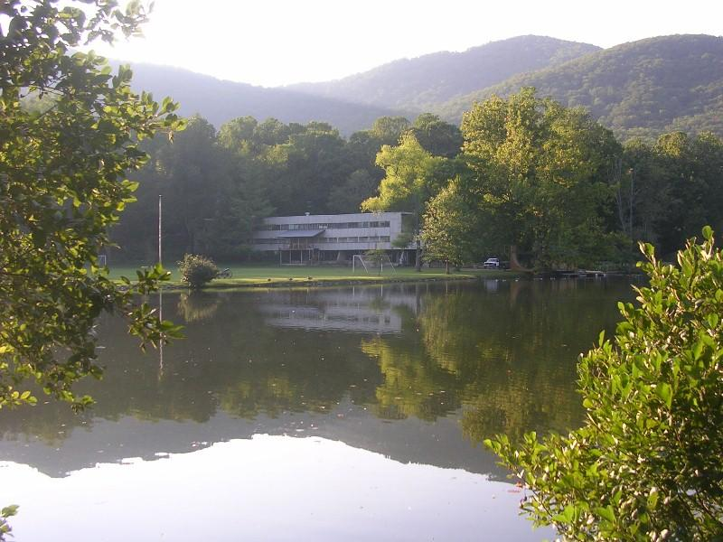 Main Building of the former Black Mountain College, on the grounds of Camp Rockmont, a summer camp for boys.
