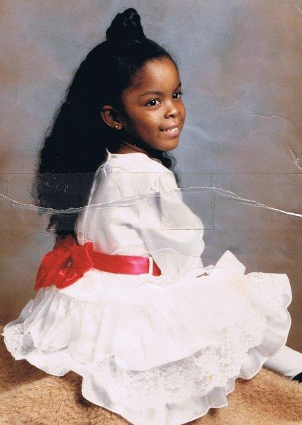 A portrait of Deondra Rose when she was four