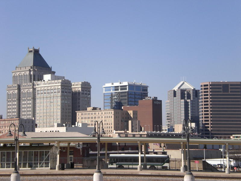 An image of the Greensboro Skyline