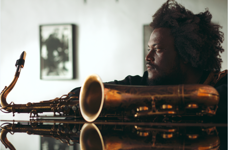 An image of jazz musician Kamasi Washington