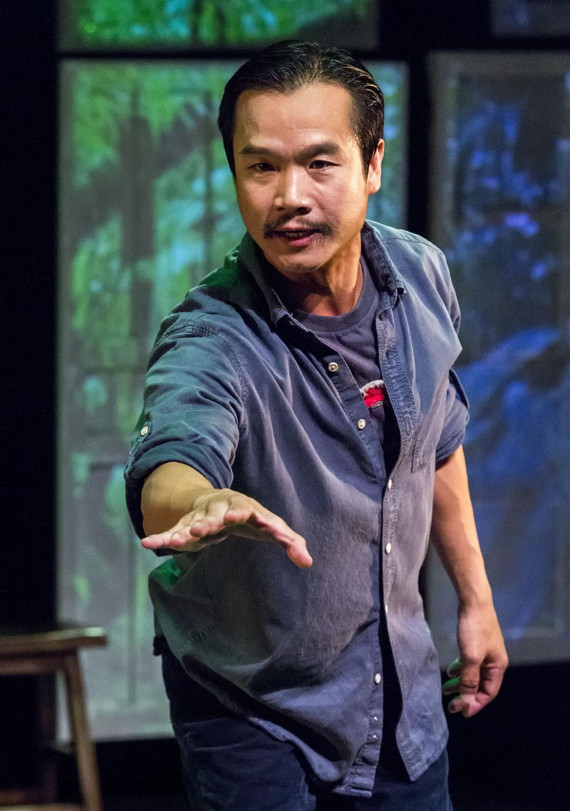 Trieu Tran in 'Uncle Ho to Uncle Sam,' performed Sept. 17-Oct 6, 2013 at the Kirk Douglas Theatre in Los Angeles.