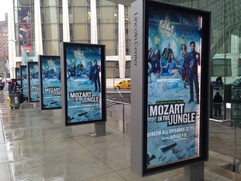 Outside the Lincoln Center the night of the premiere of Blair Tindall's 'Mozart In The Jungle'