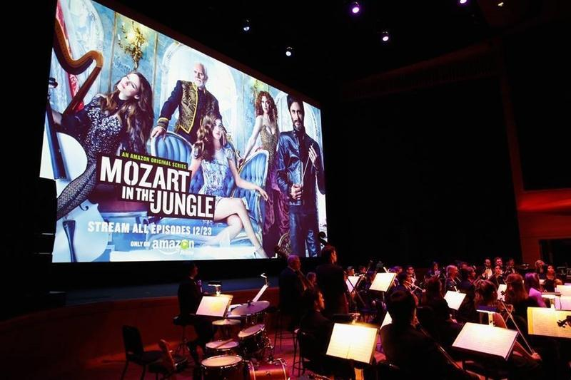The live orchestra that accompanied the premiere of Blair Tindall's 'Mozart In The Jungle.' Many of them were onscreen for the series as well.