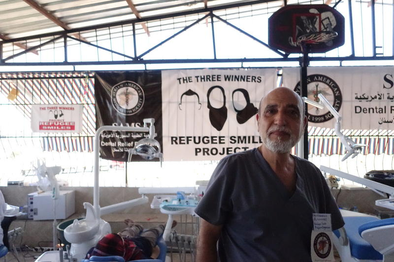 Dr. Mohammed Al-Nahhas, a Syrian-American dentist from Florida, heads dental relief for the Syrian American Medical Society. Al-Nahhas was helping Deah Barakat organize the Project Refugee Smiles relief trip to help displaced Syrians in Reyhanli, Turkey.