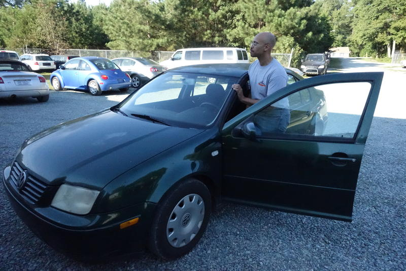 Photo: Jerome Bias of Mebane drtives a 2001 Volkswagen Jetta