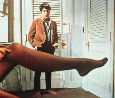 Dustin Hoffman (and Mrs. Robinson's leg) from 1967's 'The Graduate'