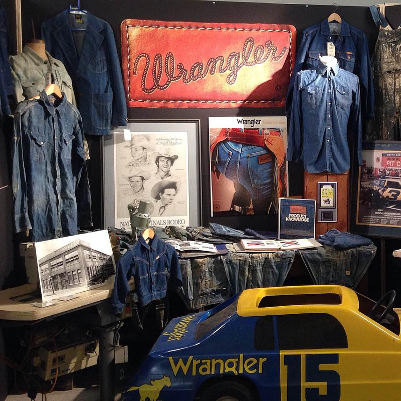 A collection of Blue Bell Wrangler artifacts showcasing their position as a player in both the work clothing and westernwear markets