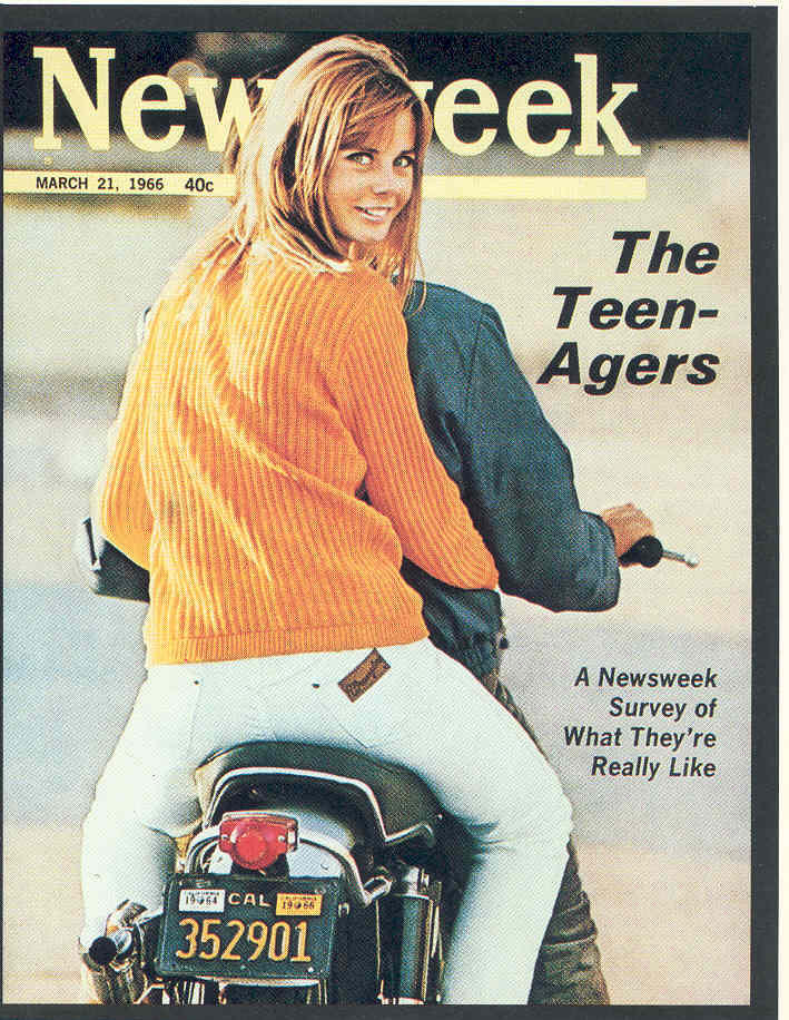 A Newsweek cover from 1966 featuring Wrangler jeans.