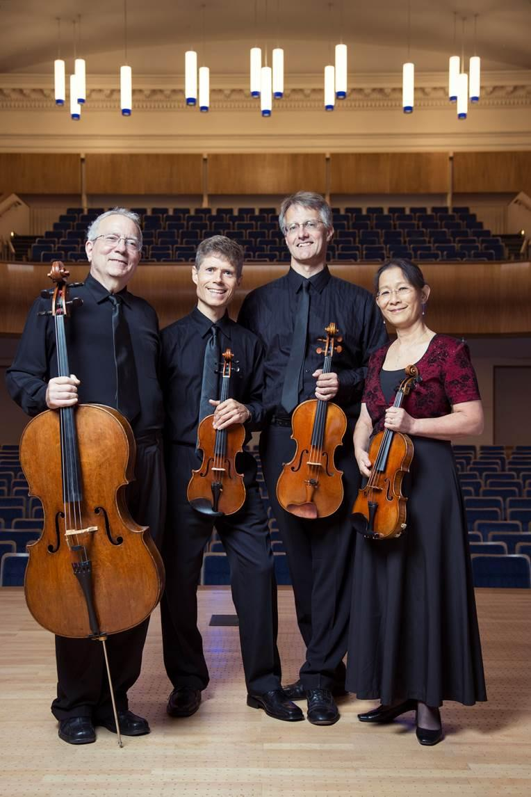 The Ciompi Quartet consists of, left to right, Fred Raimi, Eric Pritchard, Jonathan Bagg and Hsiao-mei Ku.