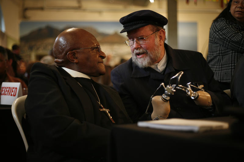 Father Michael Lapsley with Desmond Tutu
