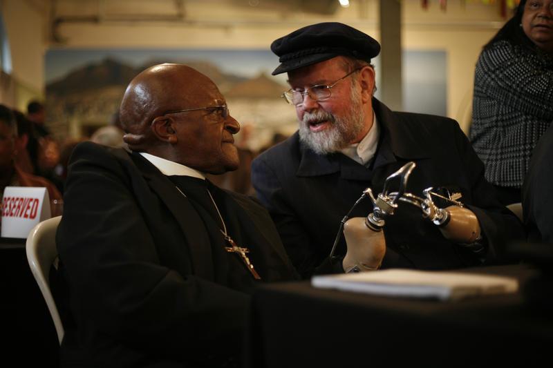 Father Michael Lapsley with Desmond Tutu