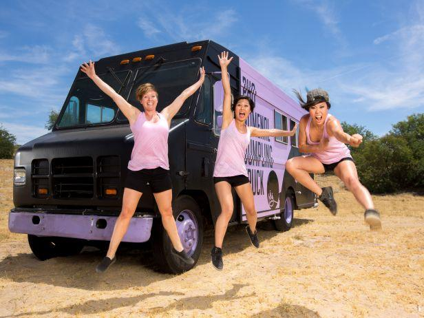 Pho Nomenal Dumpling Truck with (L-R) Becca Plumlee, Sophia Woo and Sunny Lin