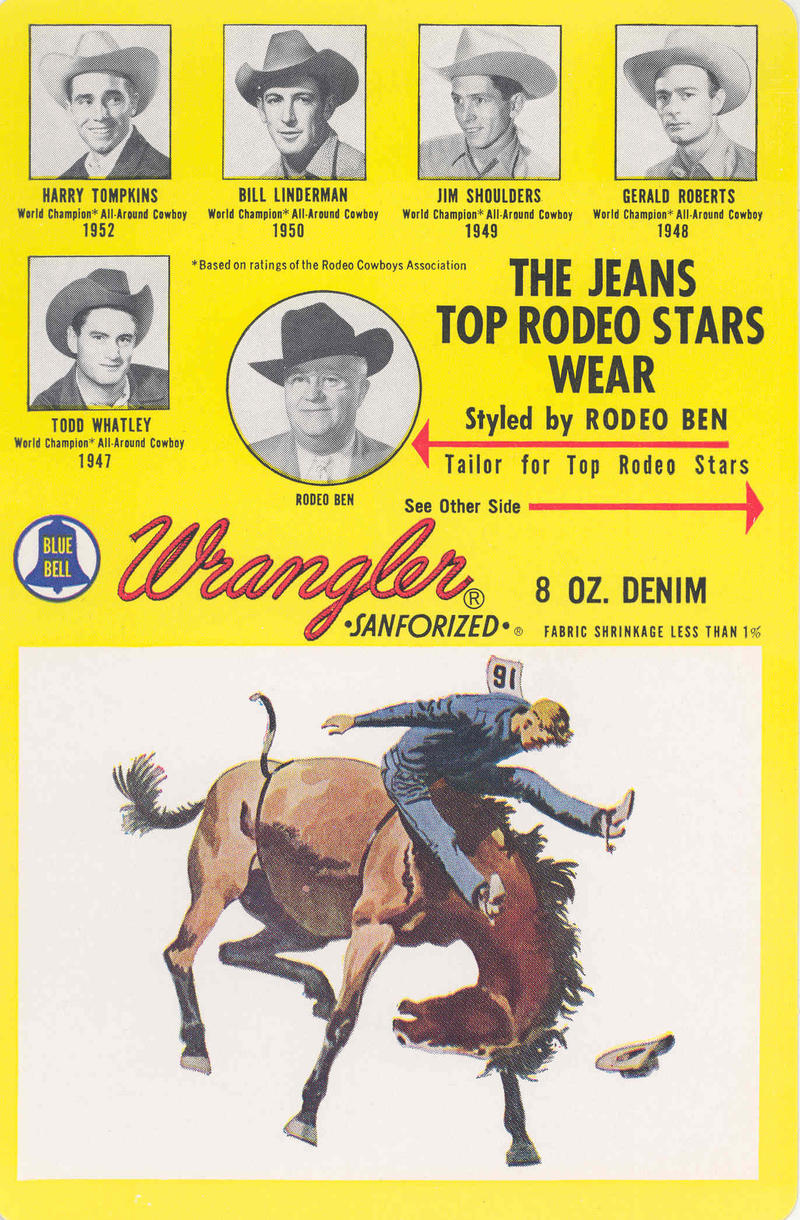 Designer Rodeo Ben worked with Wrangler to perfect the western jeans for cowboys.