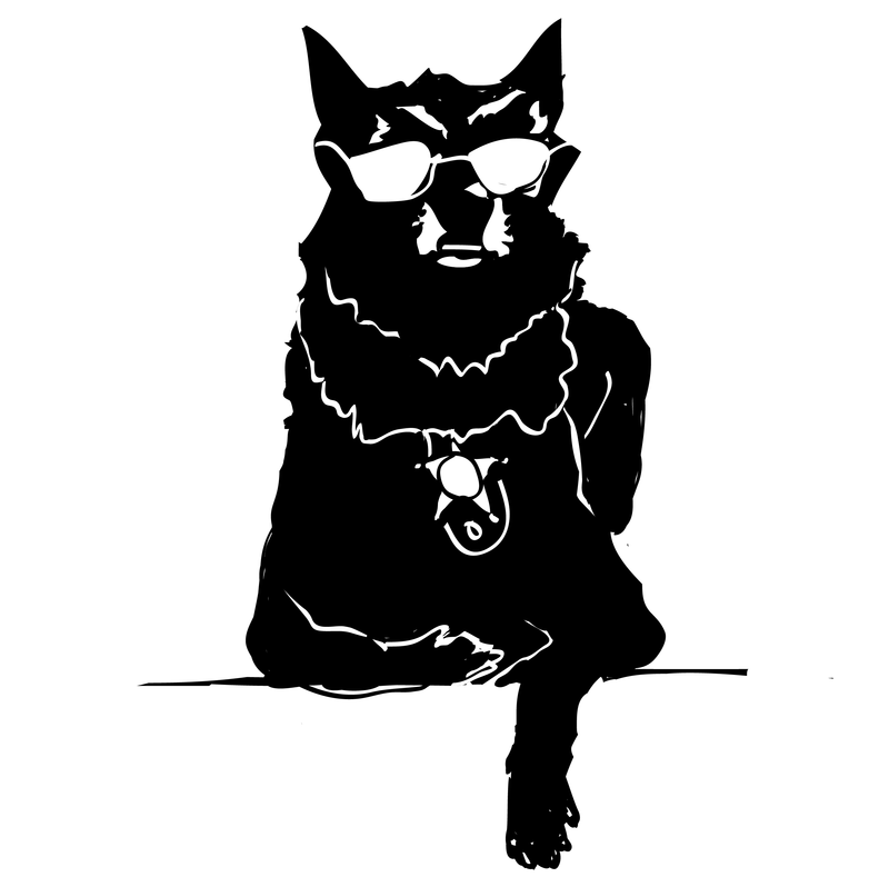 Illustration of K-9 dog for Criminal podcast