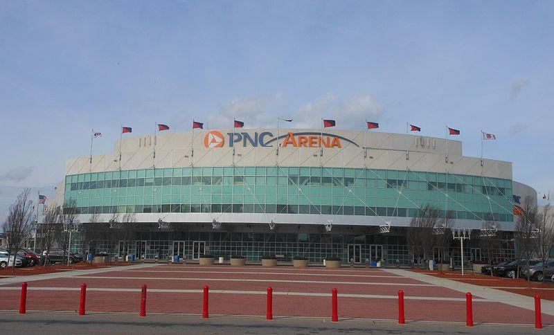 A picture of PNC Arena.