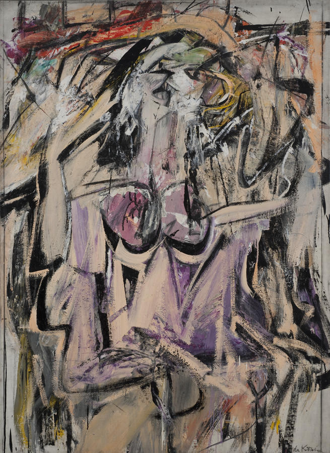 Willem De Kooning's oil painting 'Woman' on canvas