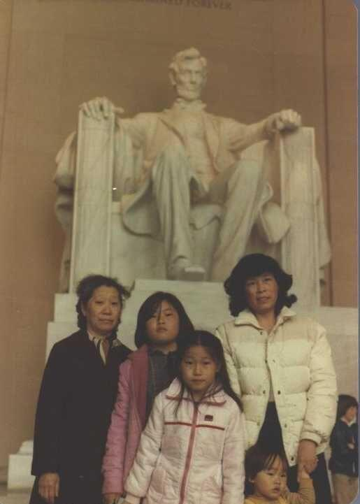 Joe Kwon, second from left, with his family