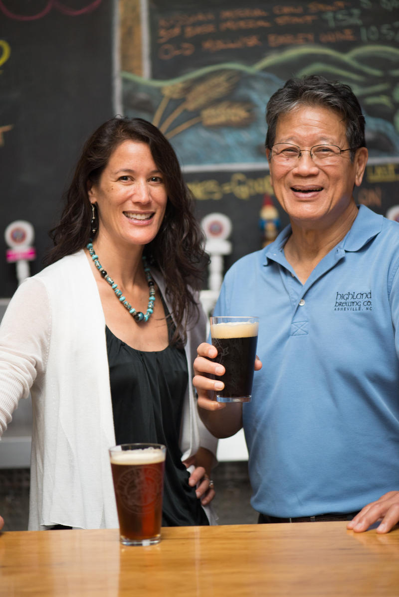 Oscar Wong started Highland Brewing Company in Asheville in 1994 and passed along the business to his daughter, Leah Wong Ashburn.