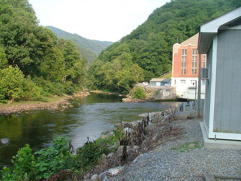 The Walters Dam on the Pigeon River in Waterville.