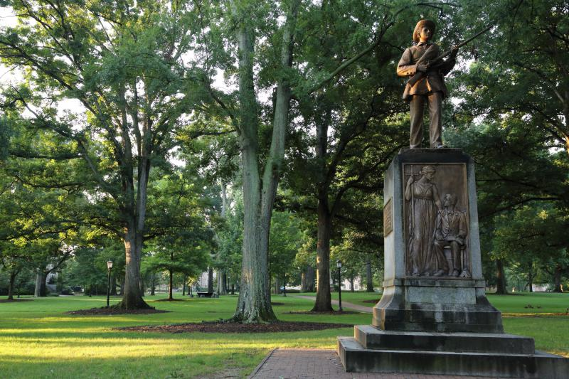 Silent Sam on UNC-Chapel Hill's campus is a controversial Confederate symbol.
