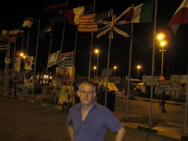 Reynolds in Martyrs Square in Benghazi, Libya in September 2011