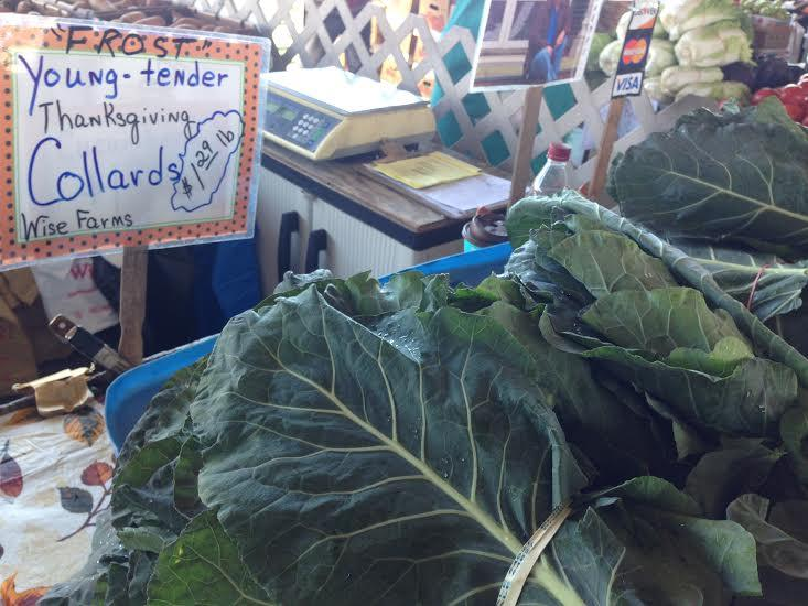 Collards, State Farmers' Market, Thanksgiving