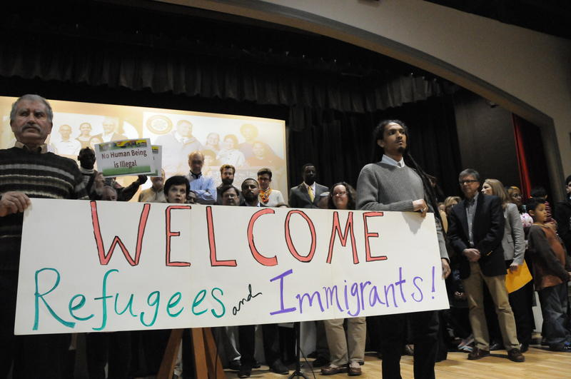 Several local service and faith organizations hosted a multicultural Thanksgiving Dinner to welcome immigrants and refugees.