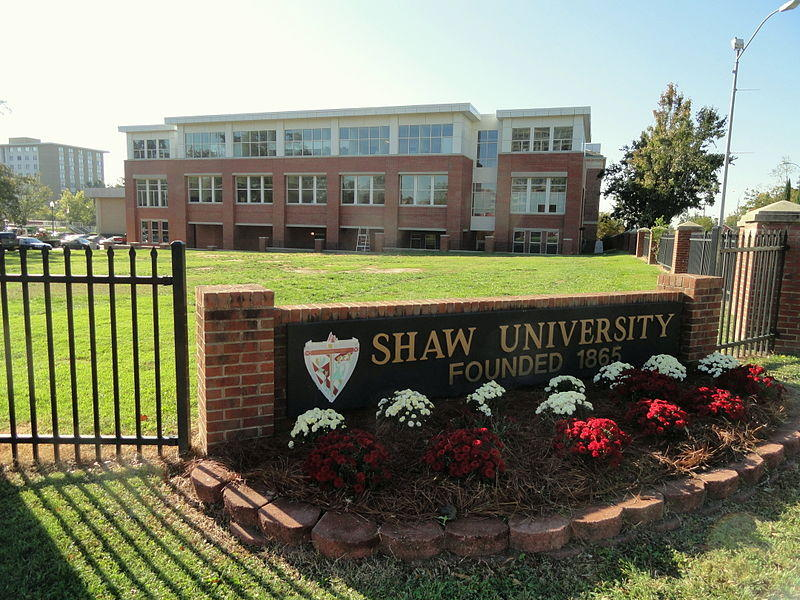 A picture of the Shaw University sign.