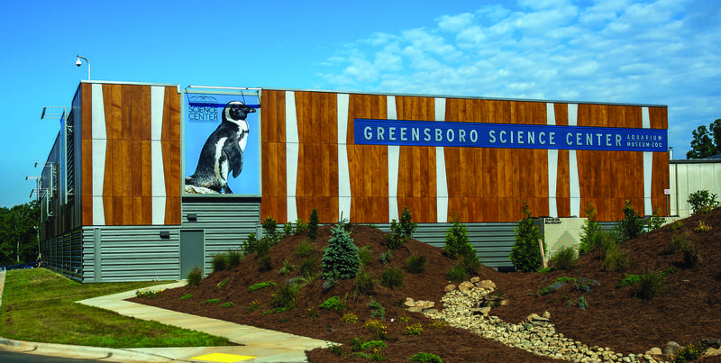 The Carolina SqiQuarium opened in 2013 as part of expansion plans for the whole Greensboro Science Center. The aquarium features African penguins, sharks, otters and stingrays, among others.