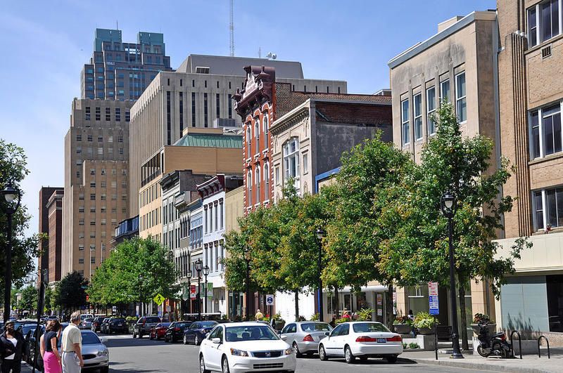 Fayetteville Street in downtown Raleigh.