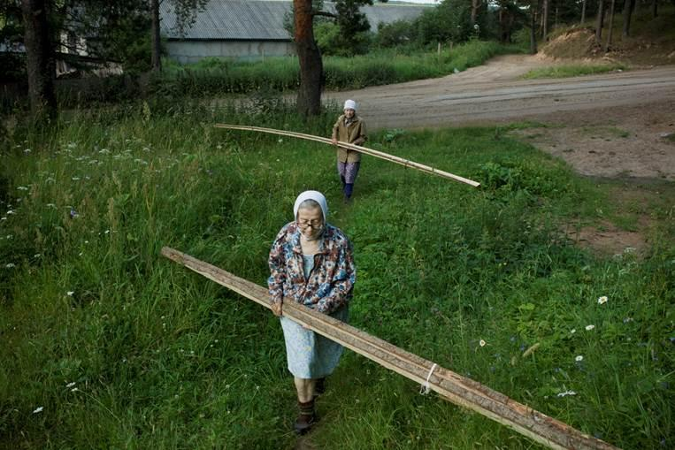 Photographer Nadia Sablin spent seven summers documenting the lives of her aunts Alevtina and Ludmila in a small village in northwest Russia. These photographs are some of those shown in her new book 'Aunties: The Seven Summers of Alevtina and Ludmila.'
