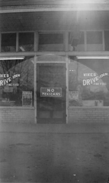 Wike's Drive Inn (Restaurant) in November 1949. It is at the outskirts of Marked Tree, Arkansas, heading towards Harrisburg, Arkansas.