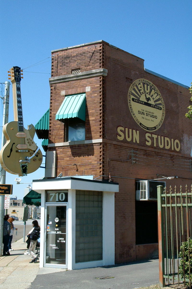 A picture of Sun Studio in Memphis, TN.