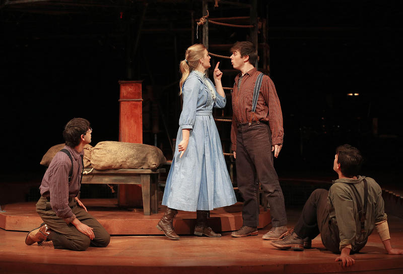 (L-R) Daniel Bailin as Prentiss, Arielle Yoder as Molly Aster, Evan Johnson as Peter and Jorge Donoso as Ted