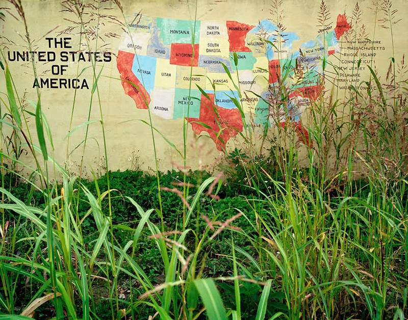 Image of United States map in Lower Ninth Ward by John Rosenthal.