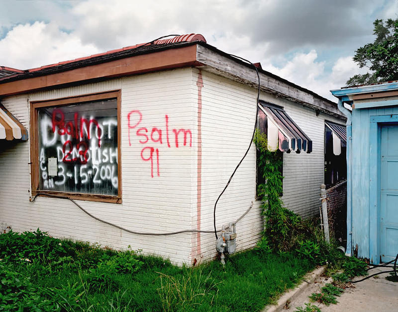 Image of building with graffiti in Lower Ninth Ward by John Rosenthal